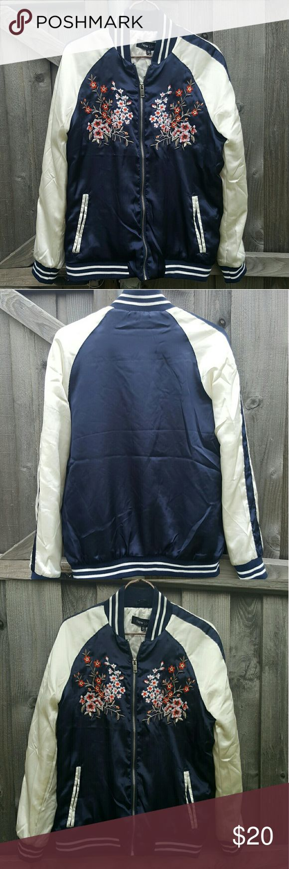 Navy Blue Bomber Jacket NEW WITH TAGS. Never used.  Size M women's bomber Jacket.  Bought from the mall.   Listed as Zara for exposure Zara Jackets & Coats