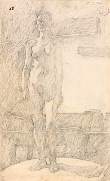 Σάμιος Παύλος (1948- )    1969 σχέδιο με μολύβι