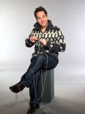 Paul Rudd #men #knitting #crocheting #yarn #RealMenKnit