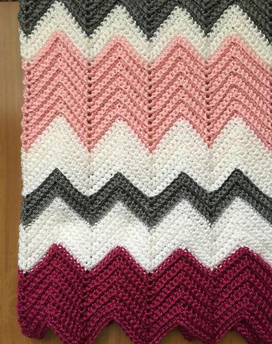 Modern Chevron Blanket pattern by Jerica Tompkins