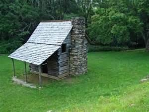 small old log cabin