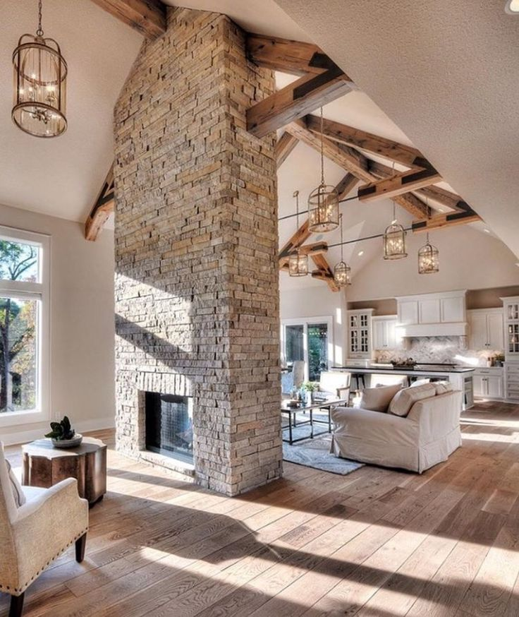 2952 best country home images on pinterest rustic homes for Double sided fireplace design