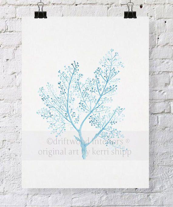 Sea Fern in French Blue 11x14 Print