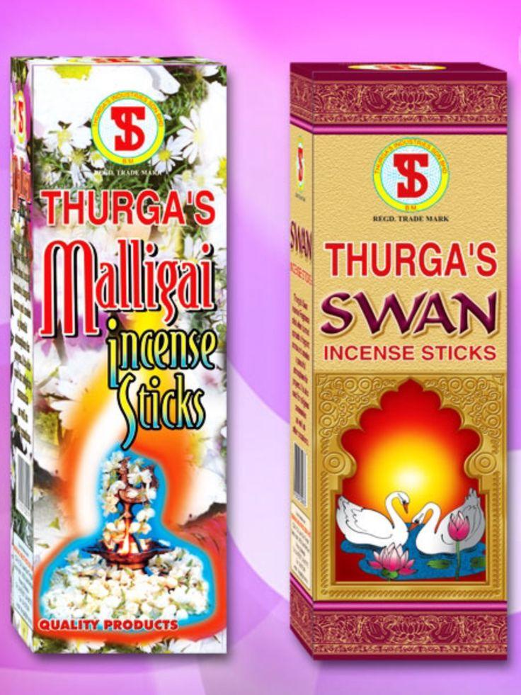THURGA's Malligai & Swan Incense $3 packet available @ Qincense.com.au