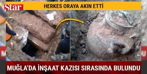 Milas'ta inşaat kazısı sırasında oda mezar bulundu: Muğla'nın Milas ilçesinde yapımı devam eden bir inşaat alanında, oda mezar ve tarihi kalıntılar bulundu.