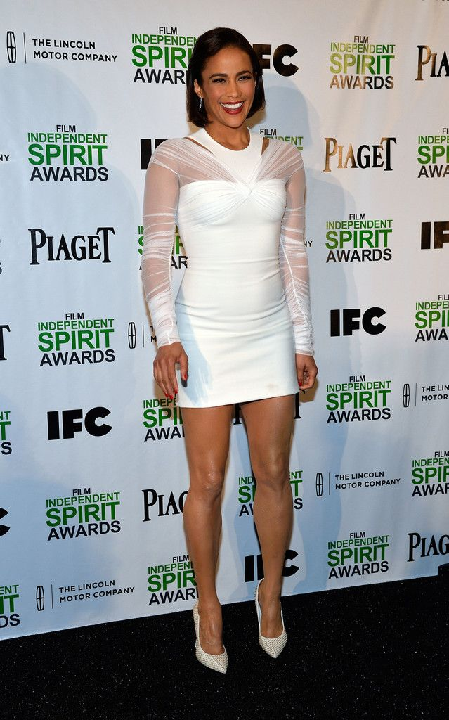 Fabulously Spotted: Paula Patton Wearing Versace - 2014 Film Independent Spirit Awards Nominations Press Conference - http://www.becauseiamfabulous.com/2013/11/paula-patton-wearing-versace-2014-film-independent-spirit-awards-nominations-press-conference/
