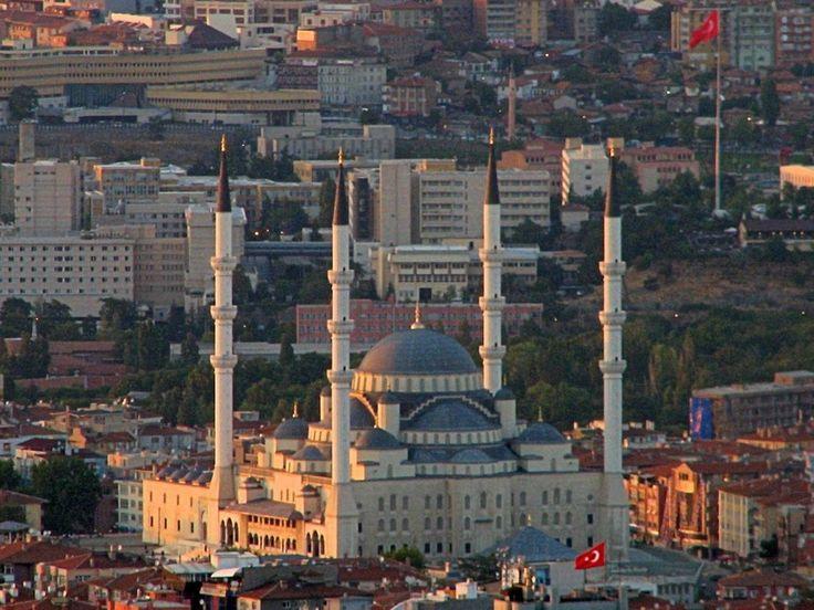 The Beautiful View of Kocatepe Mosque in Ankara