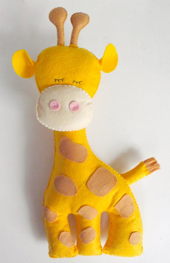 Giraffe Stuffed Animal Felt giraffe decor by LaPetiteMelina, $20.00