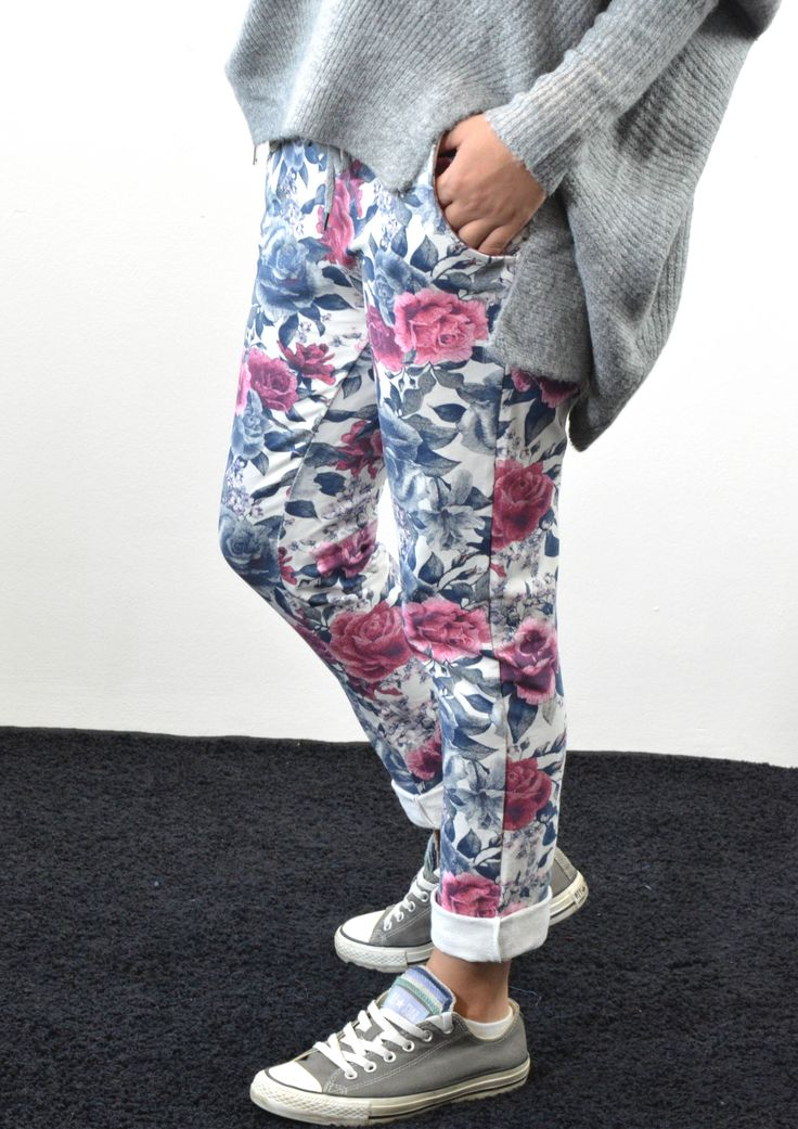 Παντελόνι Φόρμα Φλοράλ | Shop online: www.musitsa.com