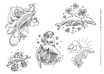 black and white dolphin tattoos - Google Search