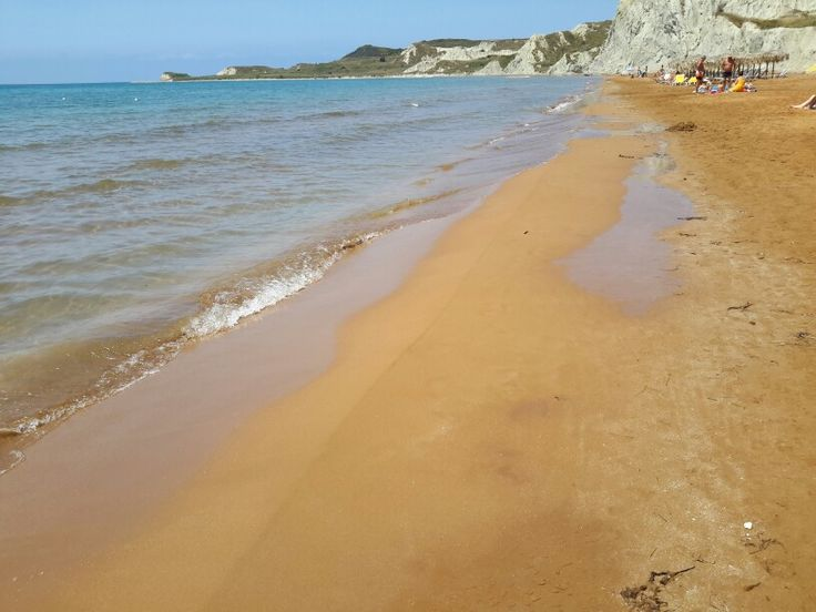 Xi beach in kefalonia: The red sand
