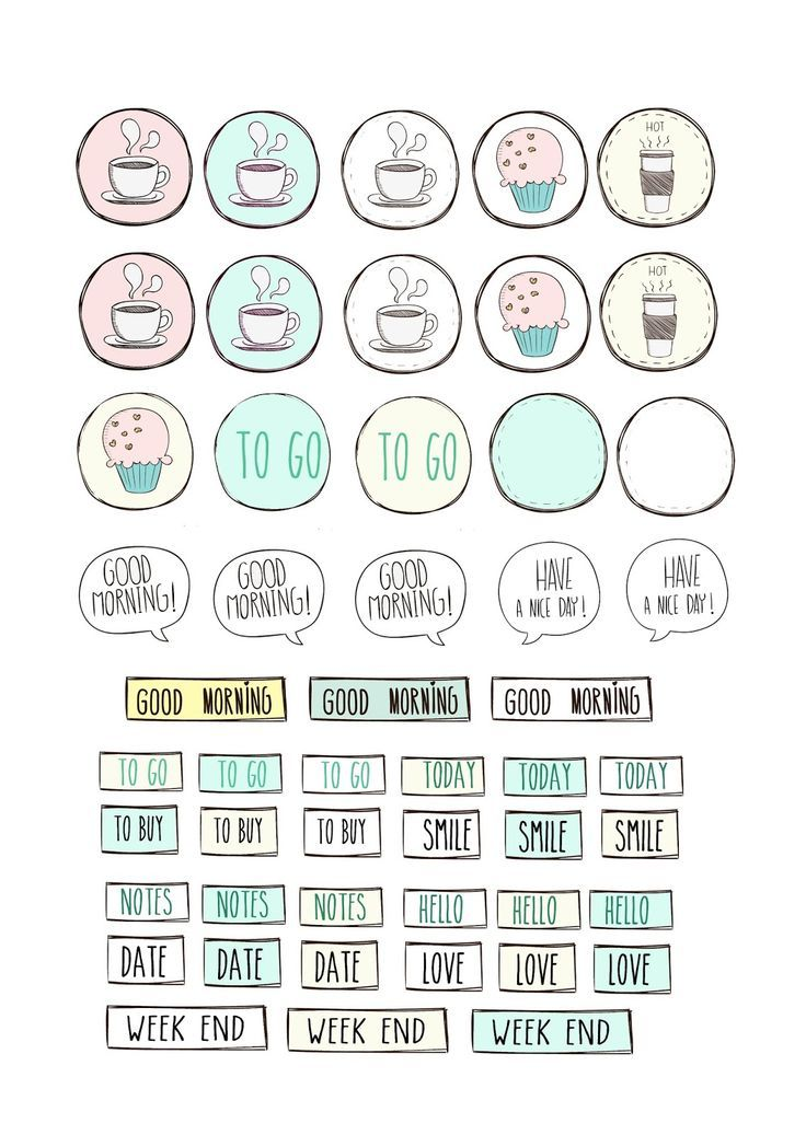 PLANNER STICKERS - Free printable stickers for planner - Paper and Needle