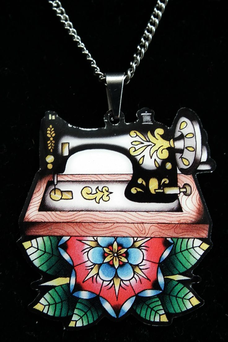 'Sew Lovely' sewing machine necklace from Jubly Umph