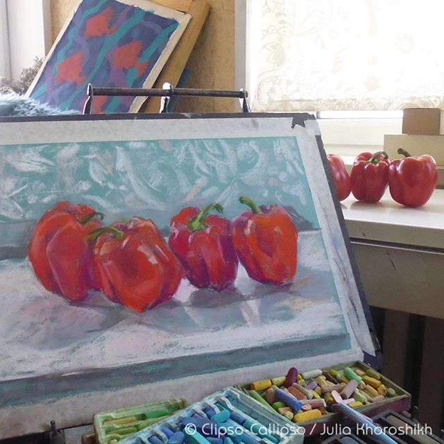 Today is #SketchItSunday, and here are my Peppers :) @Redbubblecreate #Redbubble #redbubblecreate #redbubbleartist #pepper #peppers #vegetables #stilllife #pastel #pastels #softpastels #painting #art🎨 #artoftheday #sketchoftheday #artistsoninstagram #sketchy #artistic_dome #art_spotlight #art_empire #art_worldly #artstudio #lifedrawing #pastelartist #artofdrawing #drawingoftheday #artsanity #artsofvisuals #artstagram #clipsocallipso
