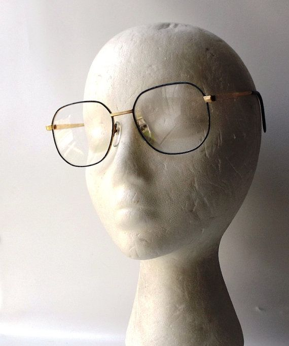 vintage 1980s modern retro new old stock eyeglasses frames -- marked mayra frame korea blue marble 54/17-135 -- dark navy blue & light blue