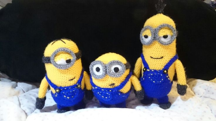 Kevin, Stuart, Bob...my buddies! Amigurumi Minions, full ...