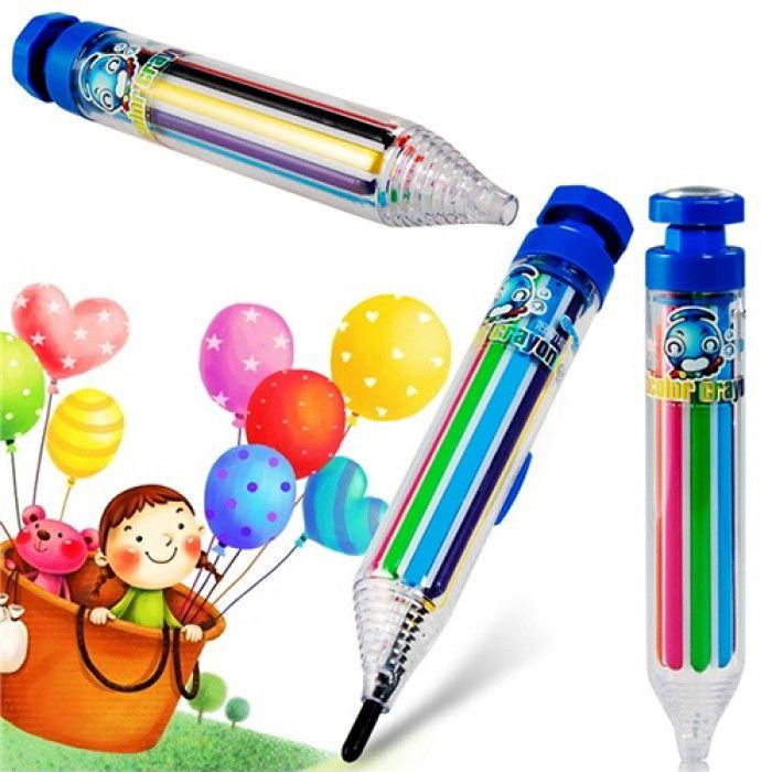 8 Renkli Basmatik Pastel Boya Kalemi