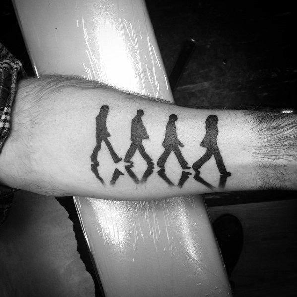 Remarkable Beatles Tattoos For Males On Inner Forearm