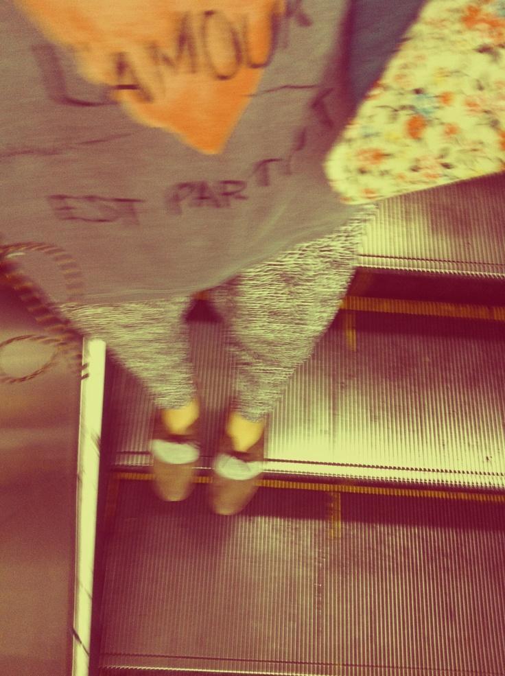 on subway*