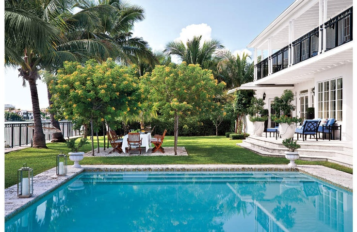 Tropical landscape and pool