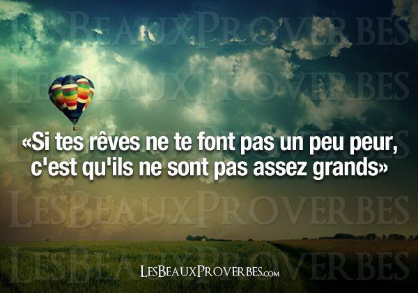 Les Beaux Proverbes – Proverbes, citations et pensées positives » » Rêvez en grand !