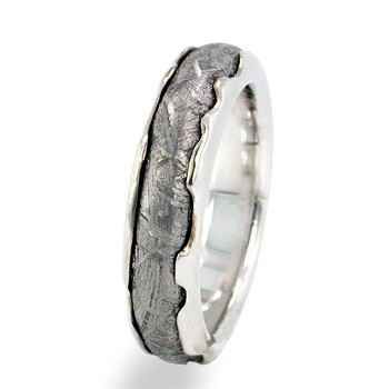 Meteorite Ring, $974 | 34 Unconventional Wedding Band Options For Men. For my man whose always wanted to go to space.