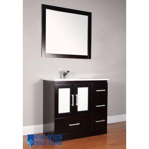 Alya Aw 135 36 36 Single Modern Bathroom Vanity Espresso Bathroom Vanity Modern Bathroom Vanity Bathroom Sink Vanity
