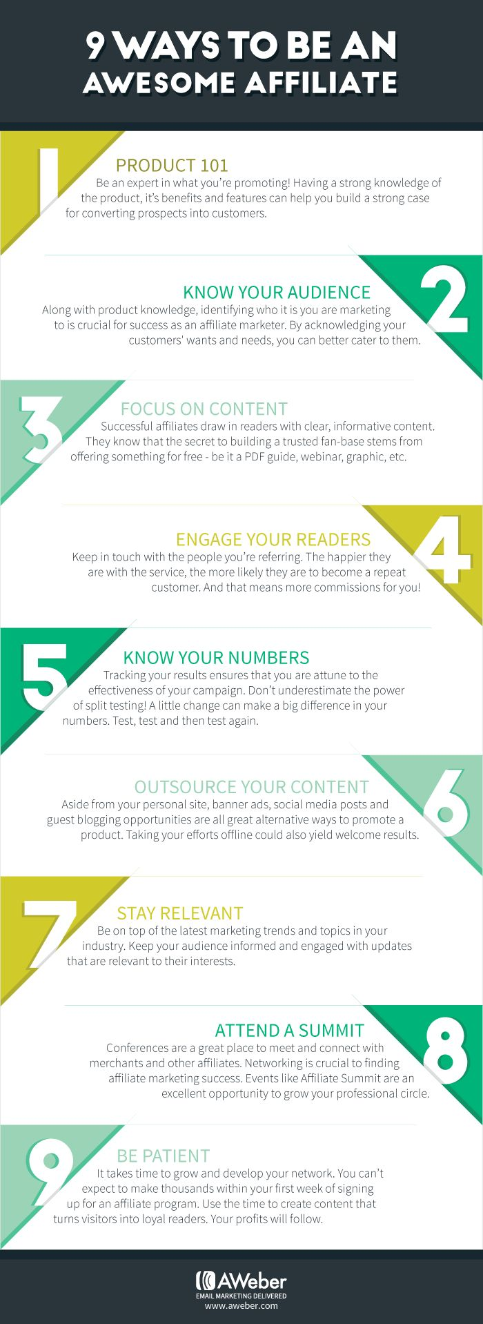 9 Ways You Can Become An Affiliate All-Star - http://blog.aweber.com/articles-tips/9-ways-you-can-become-an-affiliate-all-star.htm?utm_source=AW&utm_medium=social&utm_content=pinterest