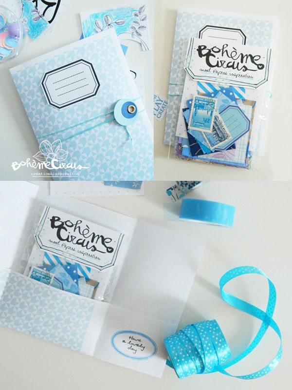 Image of Blue mood papers