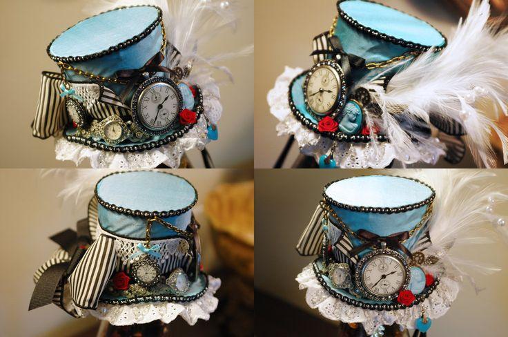 Steampunk Alice Mini Top Hat by NoFlutter.deviantart.com on @deviantART