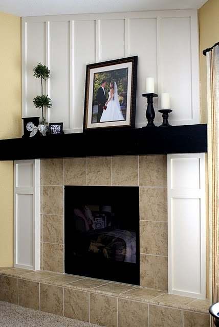 fireplace makeover.  Since all the homes I'm looking at have ugly fireplaces