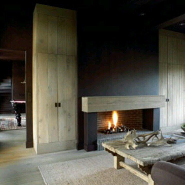 De 25 populairste idee n over huis op pinterest fornuis moderne openhaarden en open haarden for Huis open haard mantel