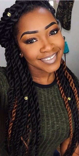 Gotta try: Senegalese twists, highlights and bead clasps!