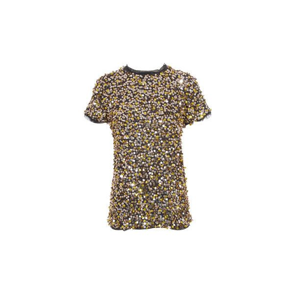 Lanvin Sequin top (14.107.420 VND) ❤ liked on Polyvore featuring tops, blouses, shirts, blusas, lanvin, sequin blouse, sequined shirt, brown blouse, shirt blouse and zip blouse