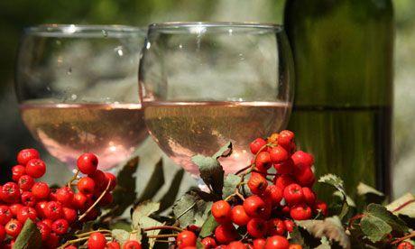 Rowanberry wine. (Photograph: John Wright)