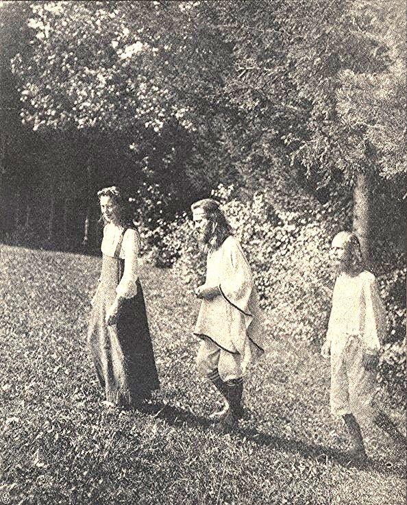Ida Hofmann, Robert Jentschura & Henri Oedenkoven, 1903