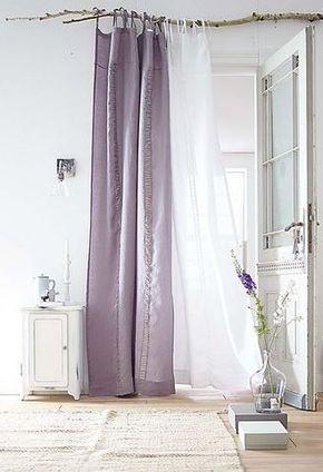 curtain pole made from a stick // Gaardinenstange - gemacht aus einem Holzstab                                                                                                                                                      Mehr