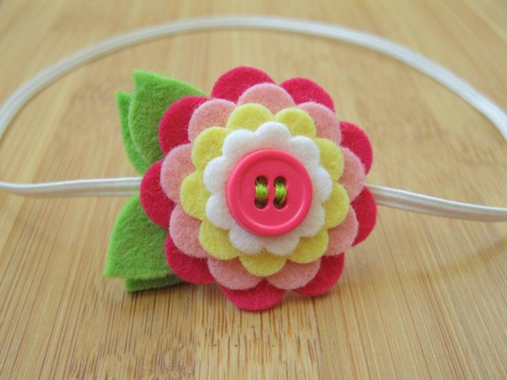 felt flower, will make really cute barettes
