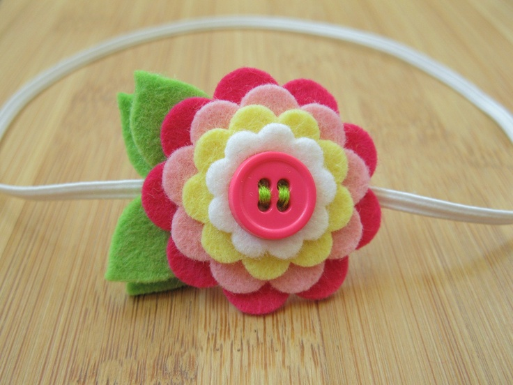 felt flower, will make really cute barettes