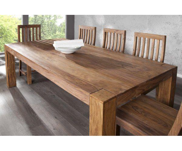 Makassar Drewniany Stół 200x100x76cm Drewno Palisander lakier półmat - 1