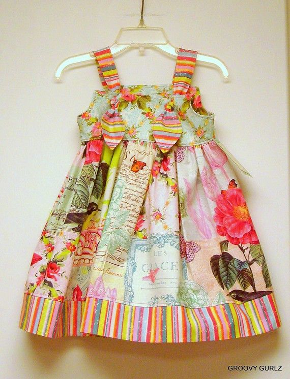 The link isn't good anymore but I love the look of this -- what a sweet easter dress.  I want one