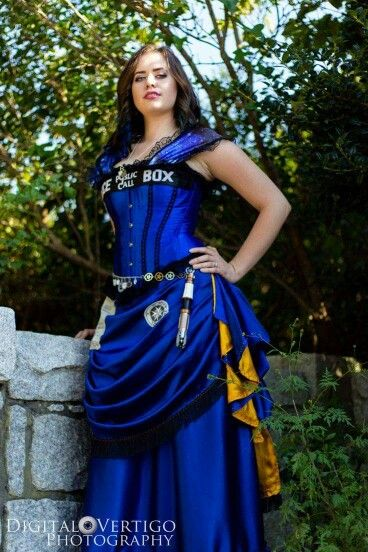 Tardis dress this is amazing…                                                                                                                                                                                 More