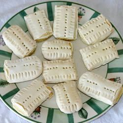 "Italian Teething Cookies...""In Italian, these cookies are called ""Ossi Dei Morti"" or bones of the dead. They are hard cookies, but they are used for teething babies. Adults like to dip them in cappuccino."""