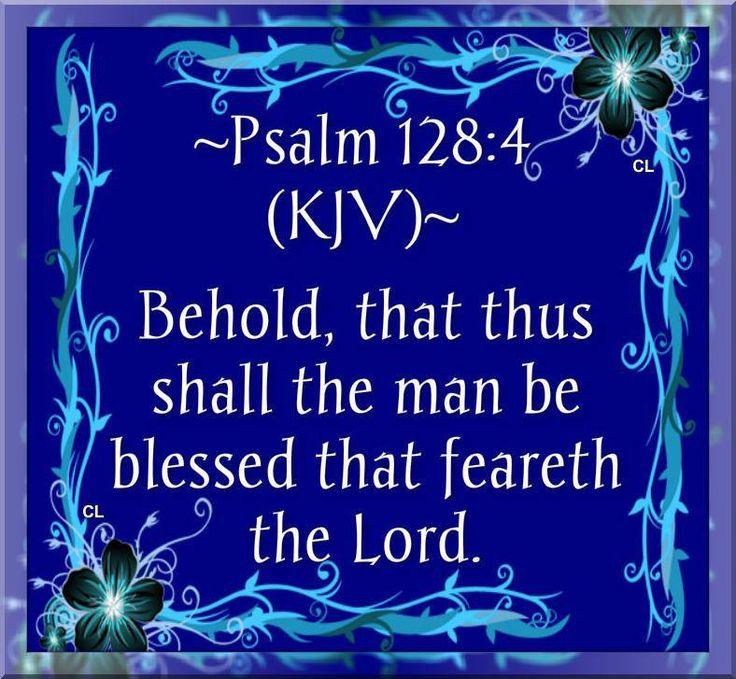 Psalm 128:4 KJV
