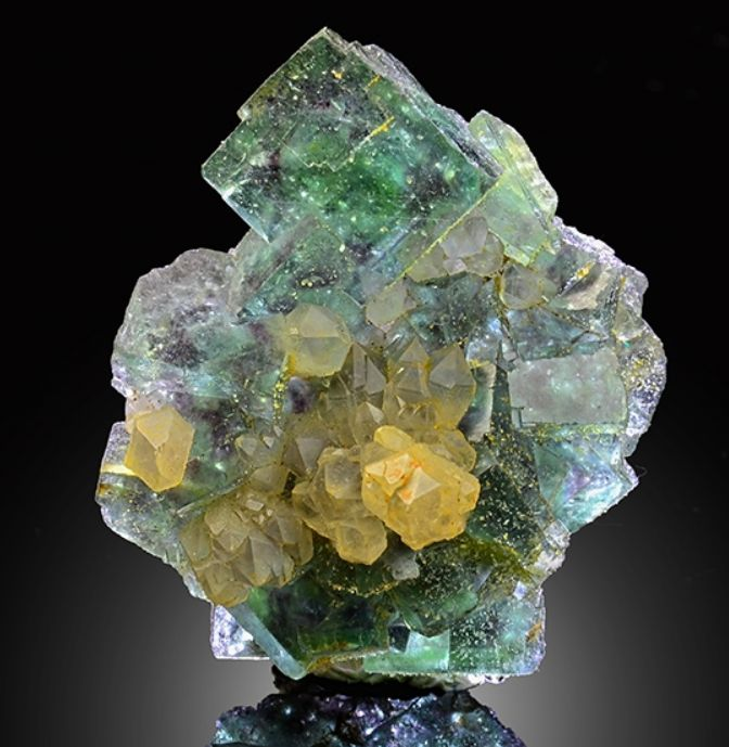 Fluorite with Phantoms and Quartz - Okorusu Mine, Otjiwarongo District, Otjozondjupa, Namibia