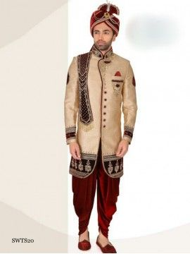 Miraculous Beige Color Sherwani