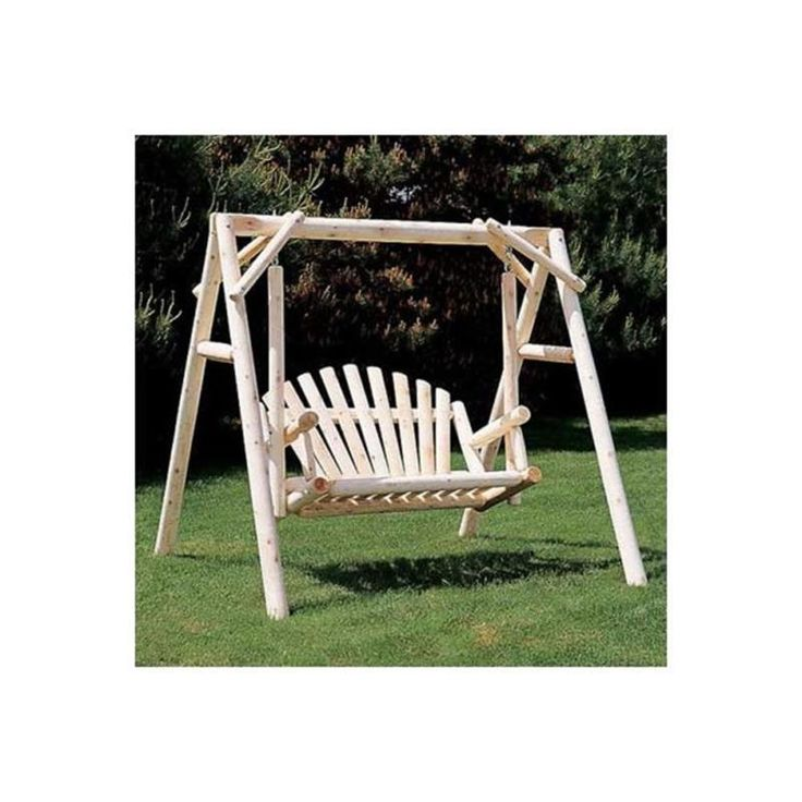 Wood Indoor/Outdoor Rustic Porch Swing with Stand Weather Resistant 5' W