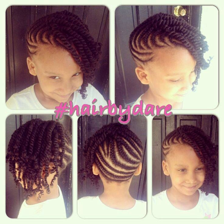 Cornrow And Twists Updo Combo Style