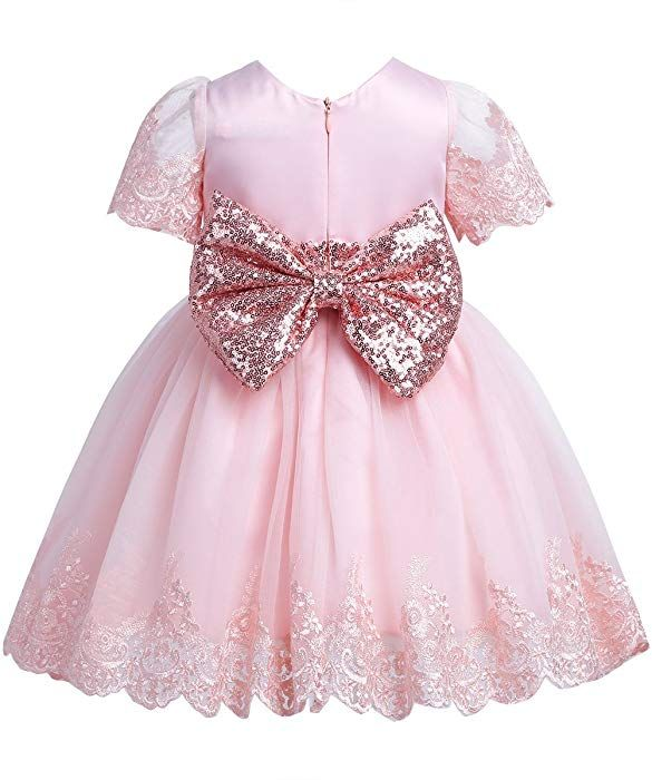 17daa1c88 Amazon.com  TiaoBug Baby Girls Sequined Bowknot Flower Birthday ...