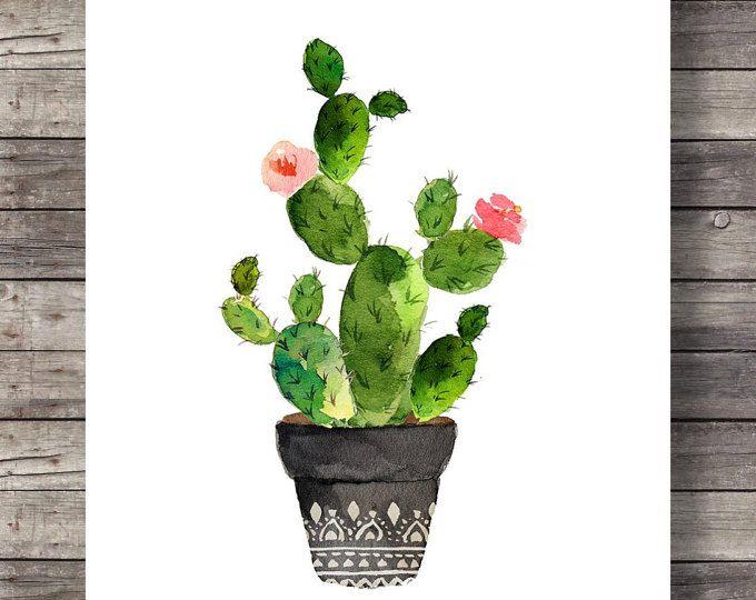 Art de cactus impression | Cactus aquarelle | Cactus aquarelle peinte à la main | décor chaleureux sticker imprimable  16 x 20 imprimer facilement réduite à 8 x 10.  FAIT AVEC AMOUR ♥  Acheter 2 obtenir 1 gratuit ! Code promo : cadeau  ____________________________  Imprimer autant de fois que vous le souhaitez, très bien pour un usage personnel et petit usage commercial.  -------------------------------------------------------------------------------------- Après que le paiement est…